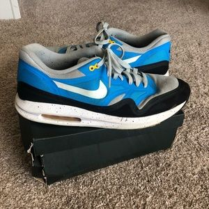 Nike Men's Air Lunar 1 Silver Wing Blue Size 12